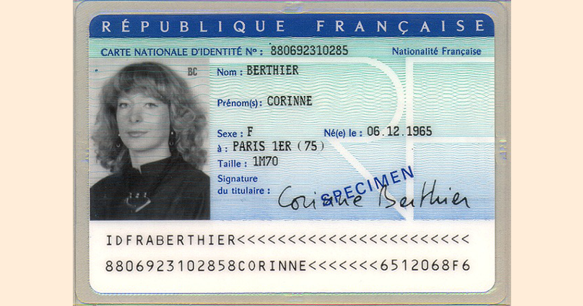 photo de carte d identité Carte d'identité   La Barre de Monts